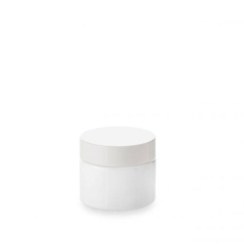 opal glass jar 30ml from Embalforme and its lid