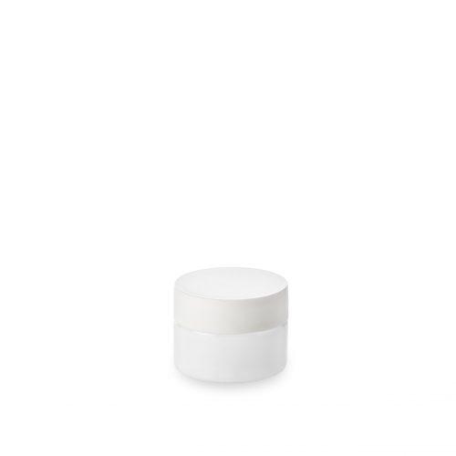 pot verre opale en 15 ml chez Embalforme avec couvercle