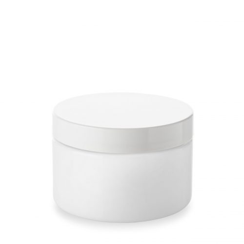 Opal glass jar 200 ml and its cover by Embalforme