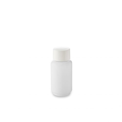 opal glass bottle 30 ml and its cover from Embalforme