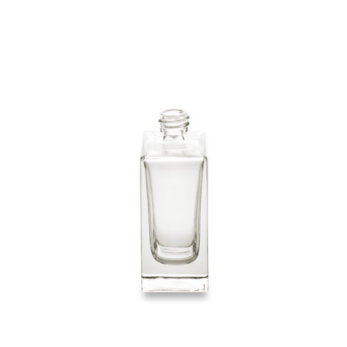 Flacon carré verre Vénus d'Embalforme en 30 ml bague à sertir