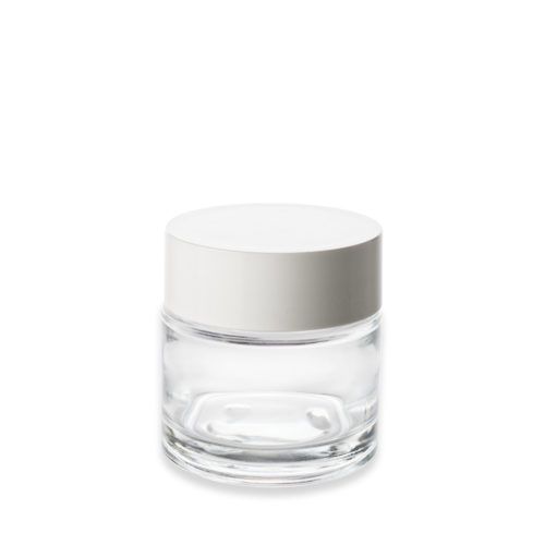 pot en verre PCR avec couvercle blanc - Embalforme