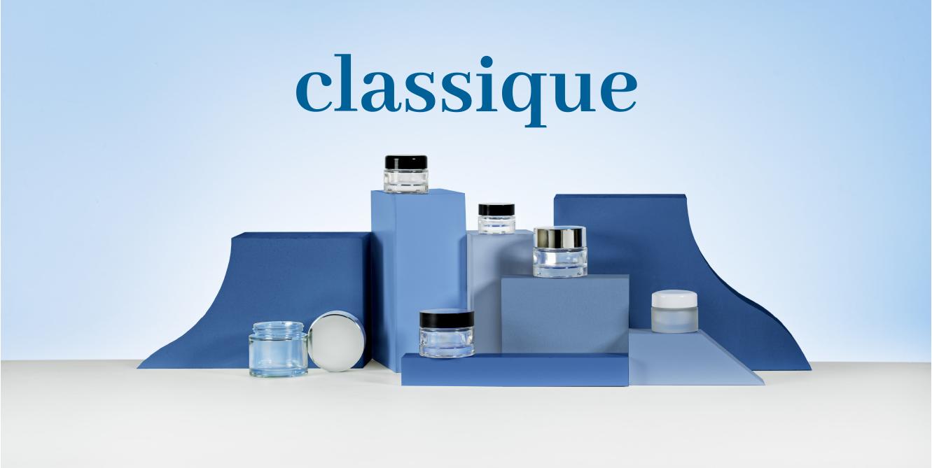 Les pots cosmétiques CLASSIQUE d'EMBALFORME en verre
