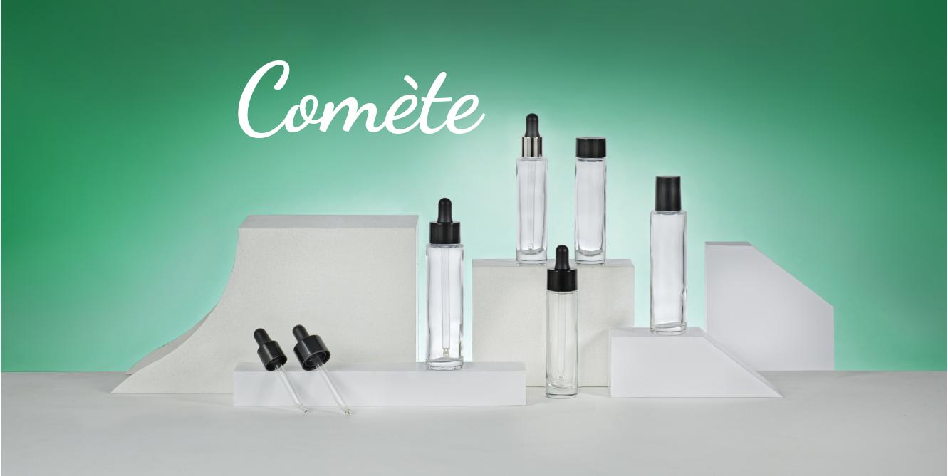 Collection flacons cosmétiques COMETE de EMBALFORME